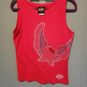 Harley Davidson red tank with crystals